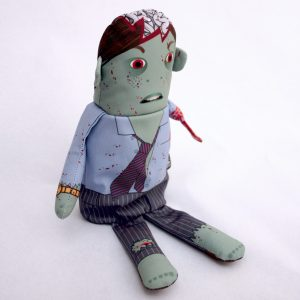 Flipping Zombies Business Doll
