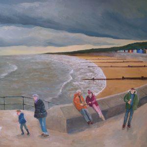 Seaside painting by Keith Bird